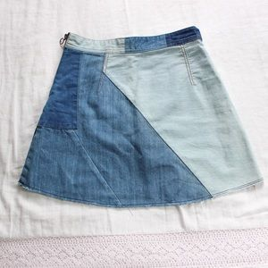 Patched denim skirt from Zara